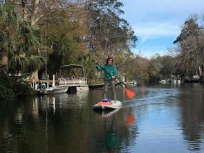 I love paddle boarding!